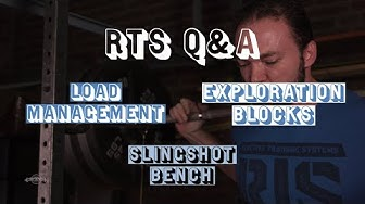 RTS Q&A: Exploration Blocks,  Slingshot Benching, and Using Stress Index for Pain Management.