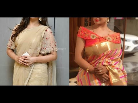 New Trendy Embroidery With Beads Saree Blouse Designs 2019 Simple Saree Blouse Designs Youtube
