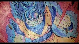 How To Draw Goku Super Saiyan God Blue Full Body