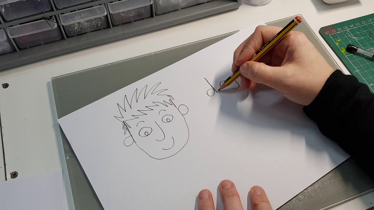 Simple drawing character faces tutorial