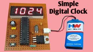 Easy digital clock | Atmega328p chip 7 segment clock | JLCPCB