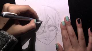 How to draw Ciel Phantomhive from the anime Black Butler (Kuroshitsuji)