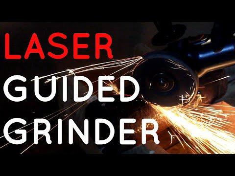 Make a Laser Guided Angle Grinder Bricolaje Amoladora angular guiada por láser Meuleuse guidée laser