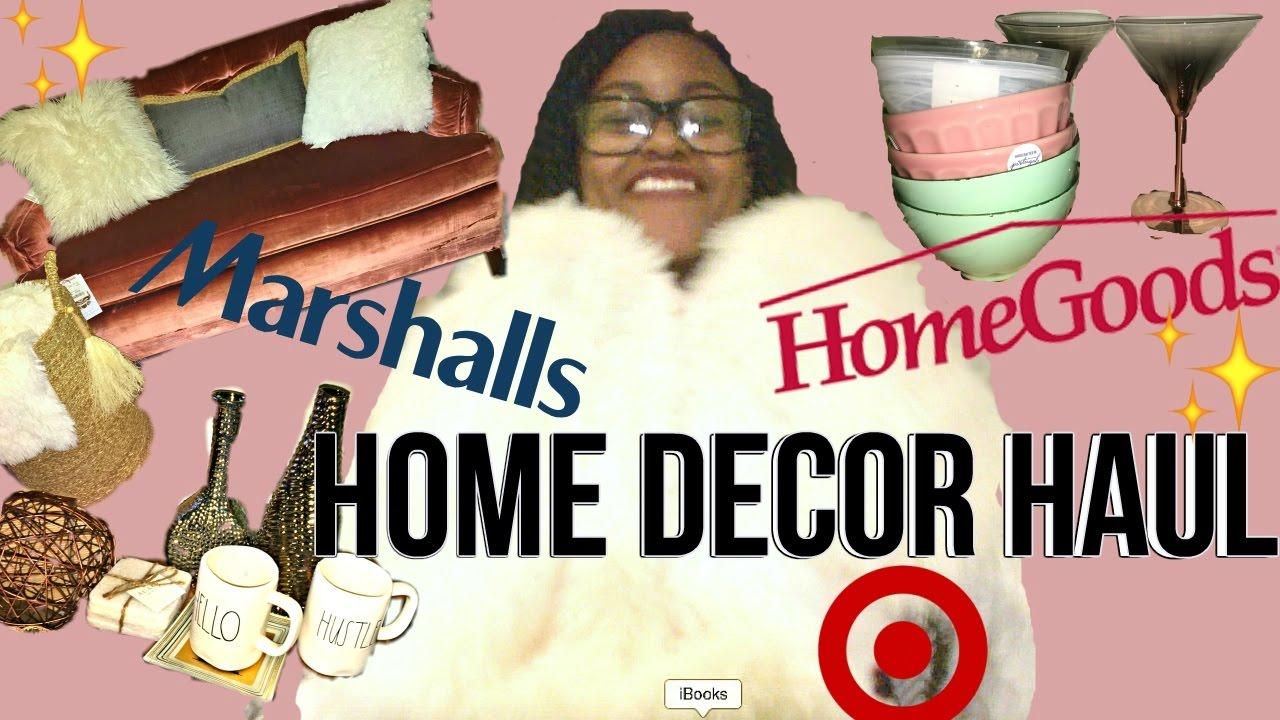 Apartment Home Decor Haul Marshalls Homegoods Kirklands Target More Youtube