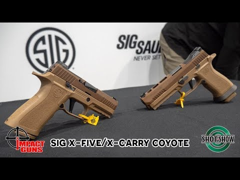 Sig Launches New Coyote X-Five & X-Carry Models - Impact Guns