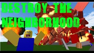 THIS IS JOHN CENA | DESTROY NOOBVILLE!!! | Roblox madness #1
