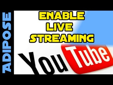 How to enable LIVE STREAMING on youtube: Tutorial