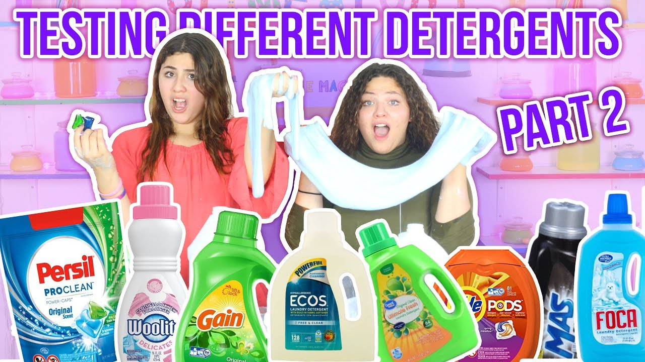testing different types of detergent for slime activator part 2
