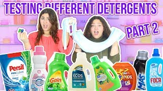 TESTING DIFFERENT TYPES OF DETERGENT FOR SLIME ACTIVATOR PART 2 | Slimeatory #56