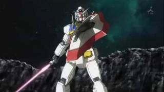 exia vs 0 gundam,final battle scene of gundam 00 season 2... original gundam vs original gundam...lol.