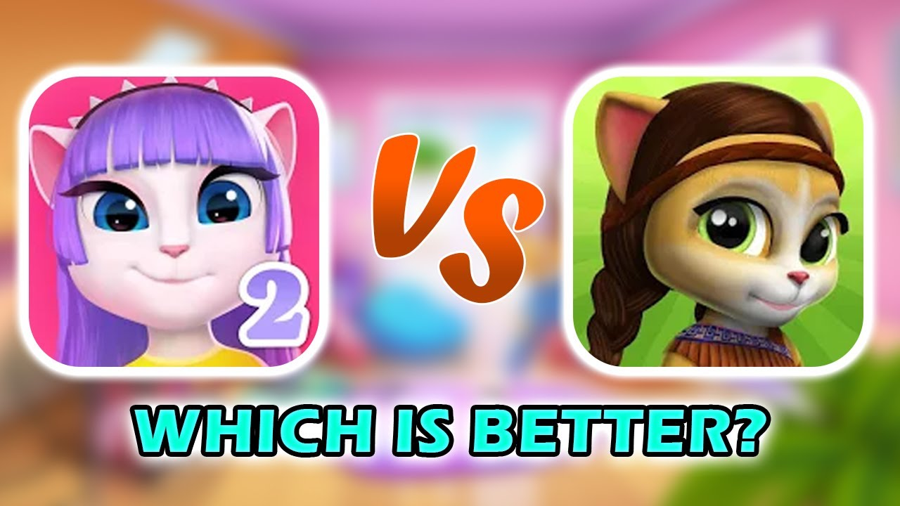 My Talking Angela 2 VS Emma the Cat - COMPARISON (ANDROID)
