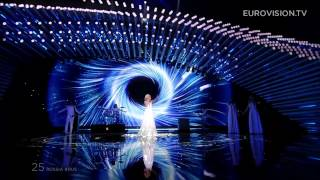 Eurovision 2015 Russia live FINAL HD-Polina Gagarina-A Million Voices 2nd place at ESC 2015
