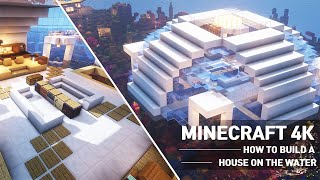 Minecraft Modern Water House Tutorial : How to build a house on the water in Minecraft #100