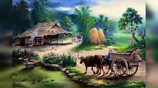 Lukisan pedesaan yang enak di pandang