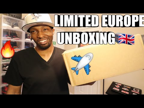 UNBOXING A LIMITED EUROPE SNEAKER