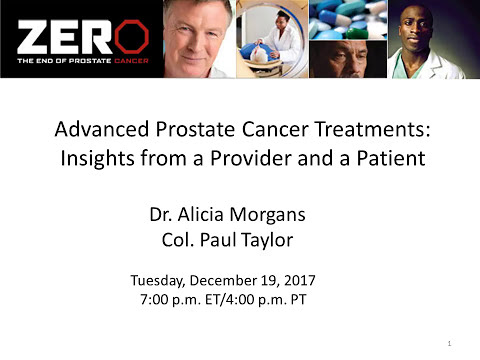 Advanced Prostate Cancer Treatments: Insights from a Provider and a Patient (December 19, 2017)