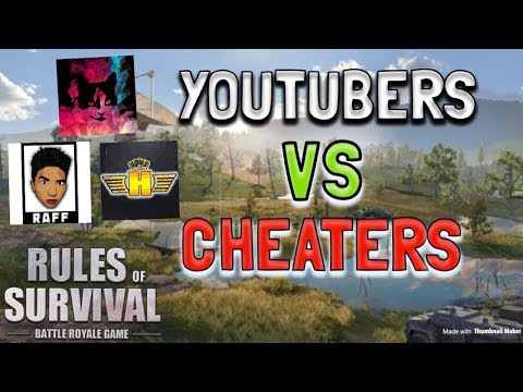 YOUTUBERS VS CHEATERS WITH HAMBLES AND RAFF - Rules of Survival PC (Tagalog)