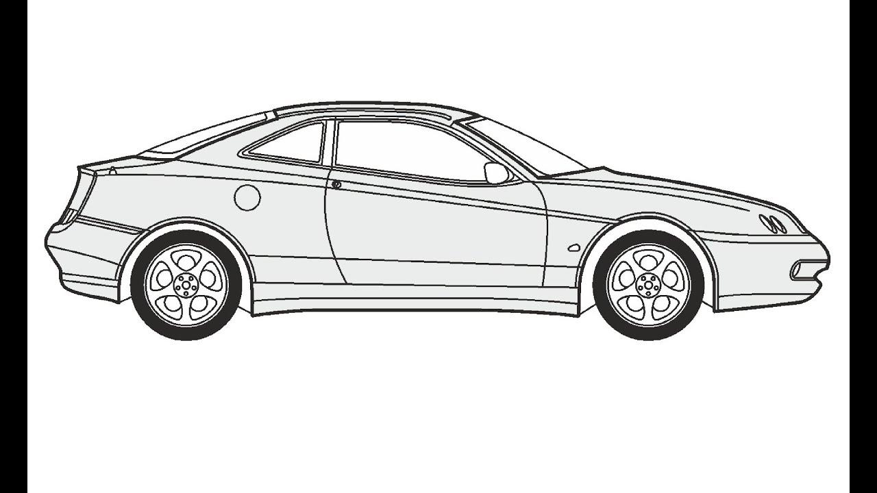 How to Draw an Alfa Romeo GTV / Как нарисовать Alfa Romeo