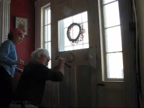 Antique door bell removal pre-restoration - Antique Door Bell Removal Pre-restoration - YouTube