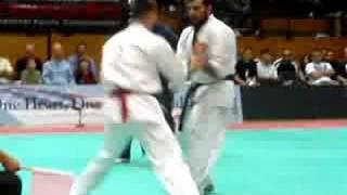 All American Open Karate 2008 Championships M.Banushev (BG) vs. A. Navaro (ES)