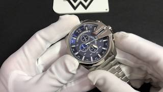 0b9182614d6 Relógio Diesel Dz4417 Mega Chief Prata Fundo Azul ...