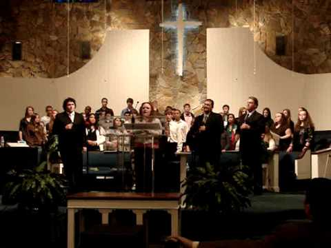 Temple Baptist Youth Group - singing with Calvary's Voice