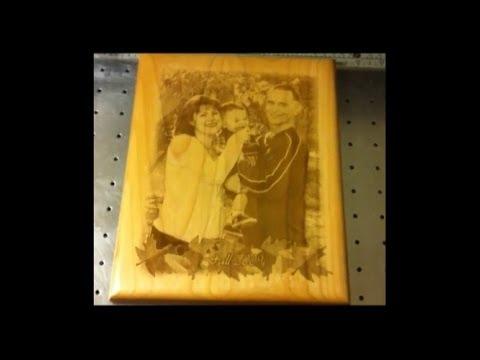 Лазерная гравировка фотографий по дереву