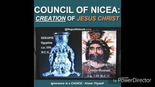 Council of Nicea . The creation of Jesus Christ