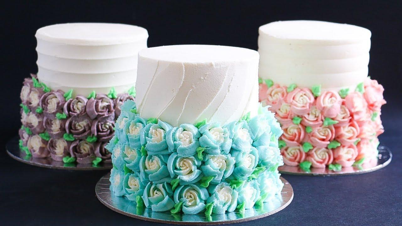 Cute Mini Gift Cake Tutorial Russian Piping Tip Rosie S