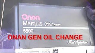 ONAN rv GENERATOR MAINTENANCE Marquis Platinum 5500