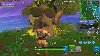 Durrr Burger Head, Stone Head Statue, a Dinosaur Fortnite Season 10 Battle Pass Road Trip Challenge