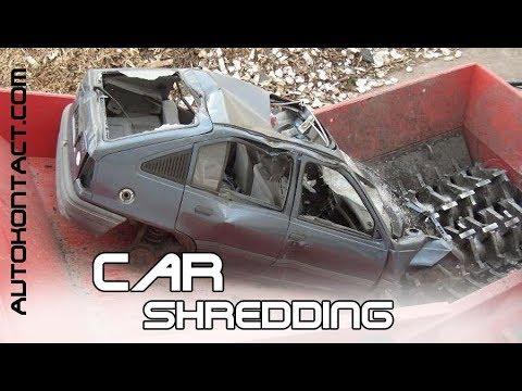 Уничтожение, утилизация, измельчение автомобилей. Car Shredding. Скидки в описании