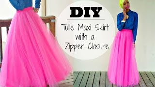 Nadira037 | DIY | Tulle Maxi Skirt | With a Hidden Zipper
