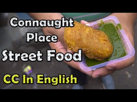 Street food connaught place, Delhi, India | Bhature, chaat,