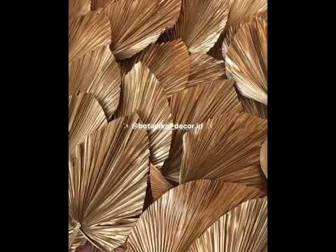 Dried Fan Palm Leaves Gold Daun Kipas Palem Kering Emas Natural Decor