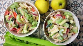 Диетический салат с сельдереем