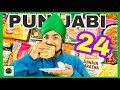 24 Hour Frozen Food Punjabi Challenge | Veggie Paaji | RTE Chole Bhature & More