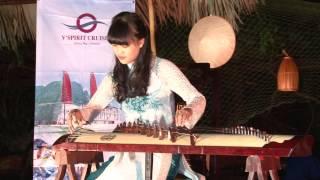 Vietnamese Traditional Musical Instrument - Dan Tranh at Soi Sim Beach, Halong Bay