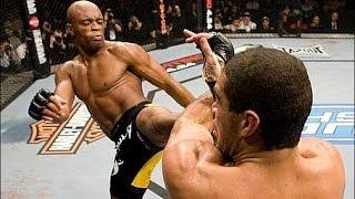 """Андерсон """"Паук"""" Сильва.Легенда MMA! Лучшие нокауты и моменты.Anderson Silva's highlights!"""