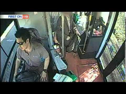 Nine News Sydney: Sydney Bus Cam Footage Released (1/9/2014)