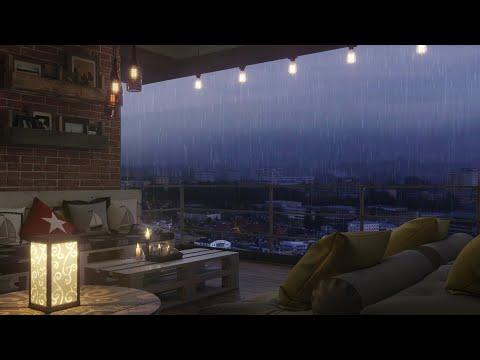 Rain Sound heard on a high terrace I Thunder