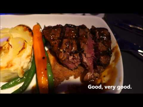 Air Canada International Business Class Meal Experience Ottawa to London