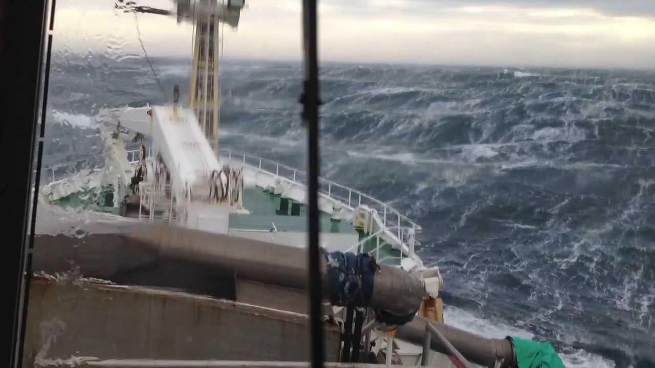 Scottish Pelagic Fishing Vessel In North Sea Storm Youtube