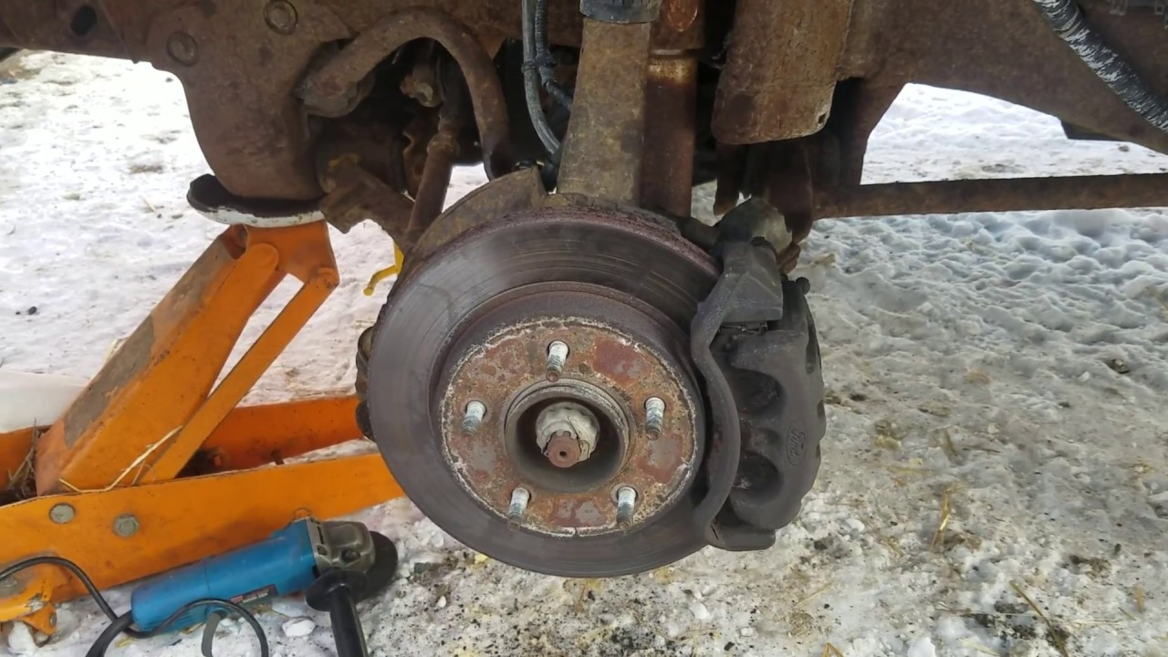 how to change the front brakes on a 1997 ford f150 xlt 4 ...