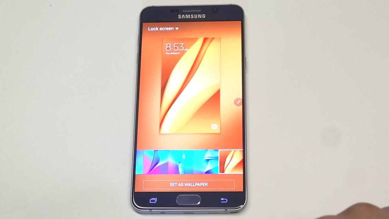 Samsung Galaxy Note 5: Changing Lock Screen Wallpaper