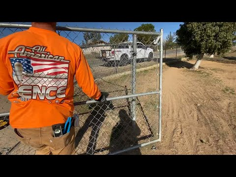 Chain Link Double Swing Gate Install