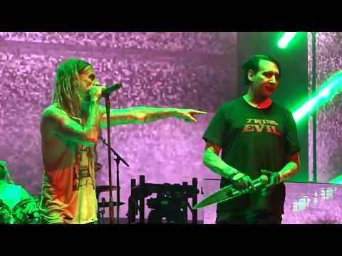 Marilyn Manson with Rob Zombie God Of Thunder Helter Skelter pt 1 Hartford CT 2018