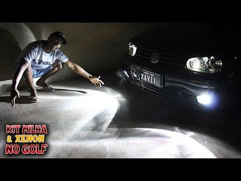Instalando KIT FAROL DE MILHA + XENON no GOLF! / Binhhoo Videos