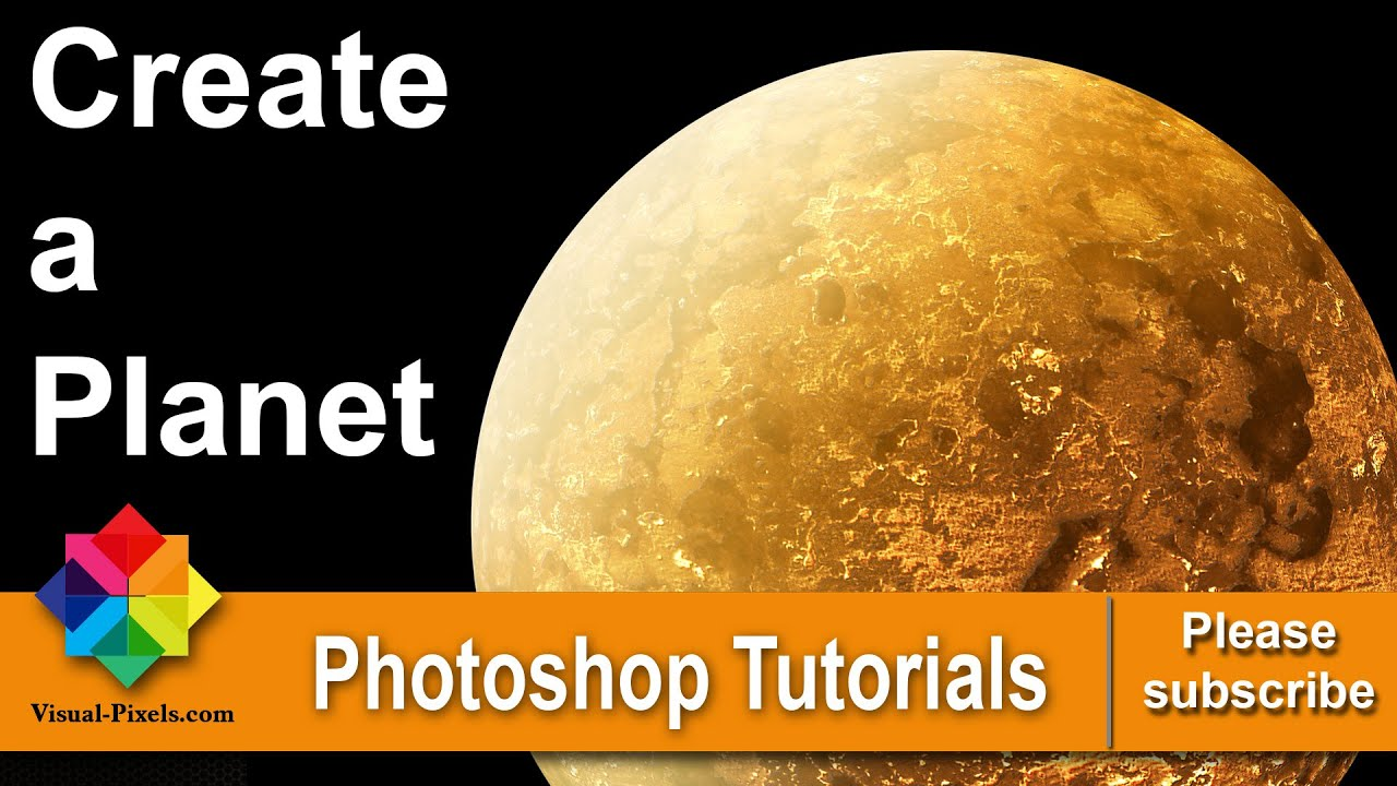 Photoshop Tutorial: How to Create a Planet - YouTube