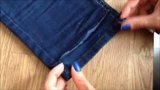 Como fazer Bainha / Barra de calça jeans original…Fácil e rápido